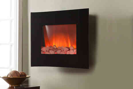 FDS CORPORATION - 2000W LED wall mounted electric fireplace with flame effect - Save 59%