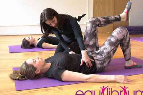 Clinic Equilibrium - Pilates 45 minute posture assessment Plus Six small group mat classes - Save 34%