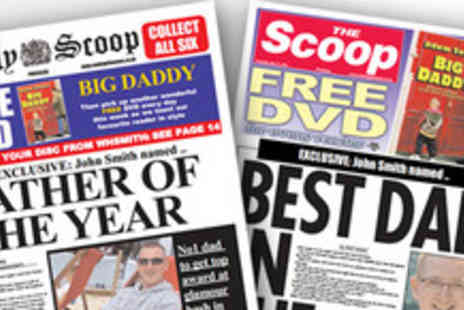 Scooped - Personalised Fathers Day spoof newspaper - Save 50%