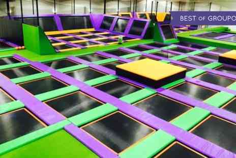 Jump Arena HO - One or Two Hour Trampoline Park Open Jump Session for One, Two or Four - Save 30%