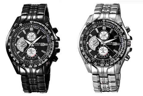 Elle and Be - Mens Chronograph Style Watch Two Colours - Save 68%