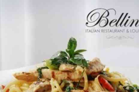 Bellini's Italian Restaurant - Three Course Italian Meal For Two - Save 59%