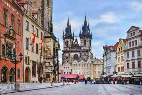 Tour Center - Two night Prague break including flights, breakfast, and a choice of a river cruise or dinner - Save 29%