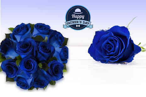 Flowers Delivery 4 U - Fathers Day blue roses bouquet - Save 41%