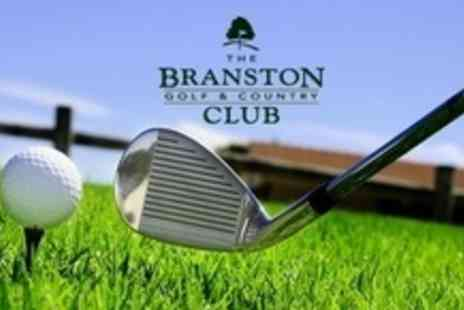 The Branston Golf and Country Club - Nine holes of golf for two plus 30 range balls each - Save 64%