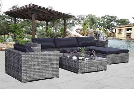 FDS CORPORATION - A six piece rattan garden furniture sofa set - Save 62%