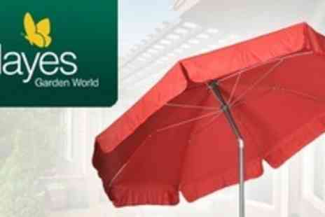 Hayes Garden World - Two 2.2m Aluminium Crank and Tilt Garden Parasol - Save 57%