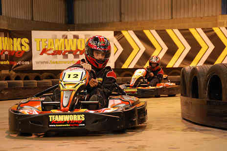 Teamworks Karting - 30 minute indoor go karting experience for one person - Save 41%