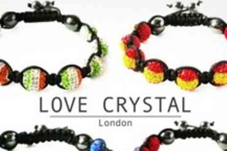 Love Crystal - Three Flag Bracelets - Save 82%