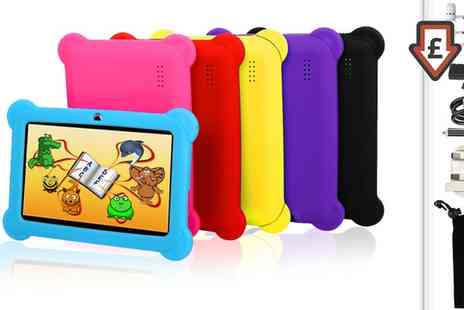 Groupon Goods Global GmbH - 7 Inch Quad Core 8GB Childrens Tablet with Protective Case, Screen Protector, Stylus and Headphones - Save 0%