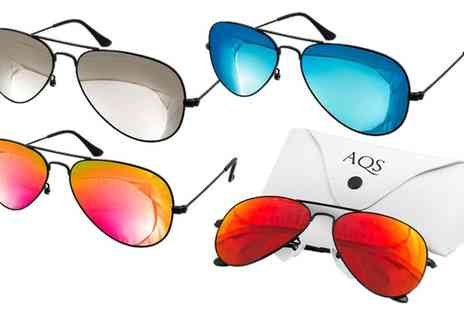 AQS - AQS Unisex Aviator Sunglasses With Free Delivery - Save 0%