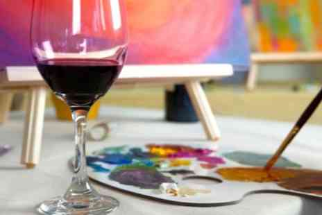 Vine & Canvas - Painting Experience with Refreshments for One, Two or Four - Save 57%