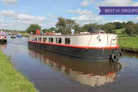 Boatel Party Cruises - 90 Minute Canal Cruise with Soup And Roll followed by Cream Tea for Two or Four - Save 0%