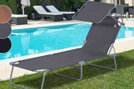 Mhstar - Sun Lounger With Adjustable Shade Available in 3 Colours - Save 0%