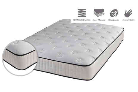 FTA Furnishing - Single, small double or double or king size jump and tac butterfly memory foam mattress - Save 83%