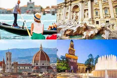 Cheap Cost Holidays - Eight night Venice, Rome, Florence and Milan break including return flights and train transfers - Save 24%