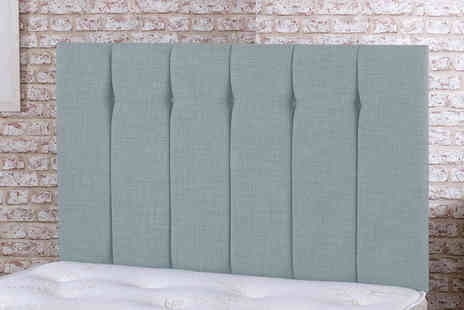 Cheap Mattresses - Luxury high thread linen headboard choose from five colours - Save 83%