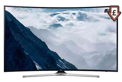 Groupon Goods Global GmbH - Samsung UE49KU6100 Smart 4K Ultra HD HDR 49 Inch Curved LED TV - Save 11%