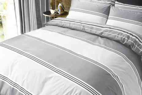Groupon Goods Global GmbH - Banded Stripe Duvet Cover Set in Choice of Colour - Save 71%