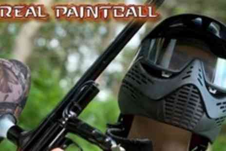 Unreal Paintball - Paintball Experience For Five With 100 Balls Each and Lunch - Save 88%