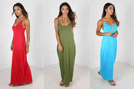 Be Jealous - Andy Pandy sleeveless maxi dress - Save 57%