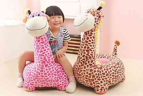 Groupon Goods Global GmbH - Liberty House Toys Childrens Plush Animal Riding or Sitting Chair - Save 11%