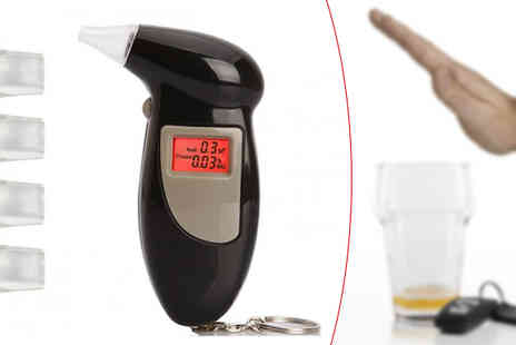 Home Decor Online - Digital Lcd Breathalyser Keyfob Plus Mouthpieces - Save 85%