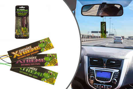 GB Gifts - Six Chewits car air fresheners get two lots of tutti frutti, sour apple and sour pineapple scents - Save 70%