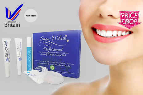 Multi Vend Marketing - Professional seven day pain free teeth whitening kit with LED light - Save 80%