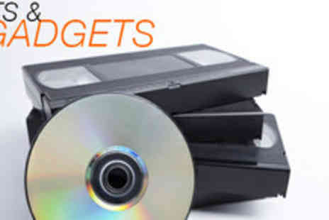 Gifts and Gadgets UK - Two VHS tapes converted to DVD - Save 67%