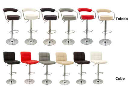 Class Watches - Pair of bar stools choose from six colours and four designs - Save 50%