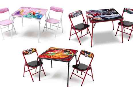 Groupon Goods Global GmbH - Delta Disney Themed Childrens Metal Table and Two Chairs - Save 10%