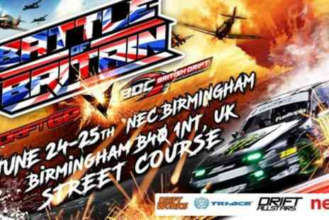 British Drift GP - One child or adult ticket to British Drift GP on 24 To 25 June - Save 30%