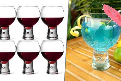 Hawt Online - Set of 6 Cocktail or Wine Goblets - Save 71%