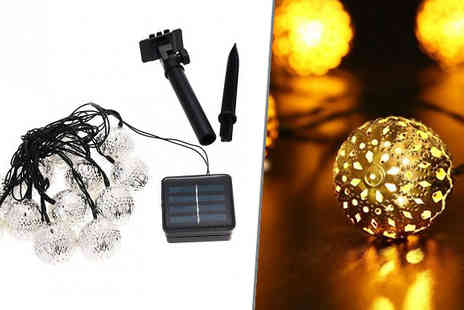 Hawt Online - 20 x Led Solar Powered Moroccan Ornament Lights - Save 80%