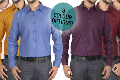 Hawt Online - 3-Pack Men's Shirts Choose 9 Colours - Save 50%