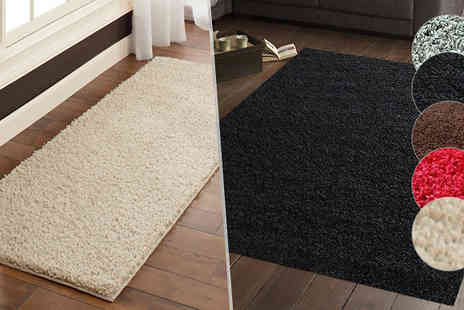 Groundlevel - Luxury Shaggy Rug Available in 5 Sizes - Save 83%