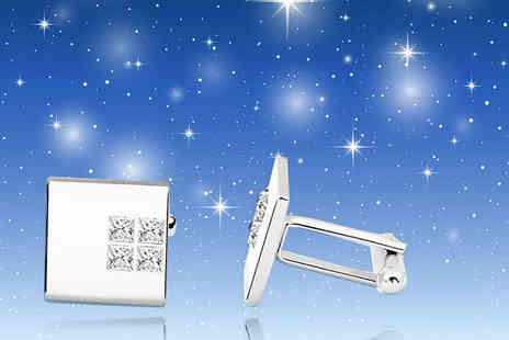 Your Ideal Gift - Mens Fathers Day crystal cufflinks - Save 87%
