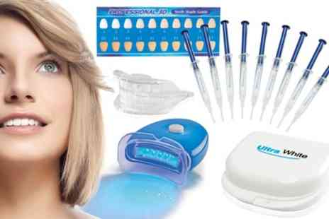 Groupon Goods Global GmbH - Ultra White Home Teeth Whitening Kit with 3, 9 or 15 Syringes - Save 50%