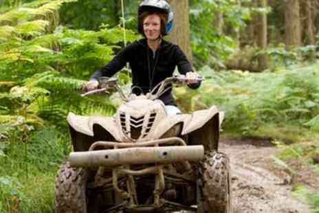 Heart of England Events - Quad Trekking and Laser Clay Shooting for One or Two - Save 71%
