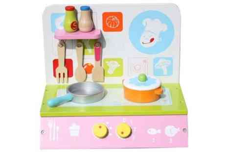 Groupon Goods Global GmbH - Liberty House Toys Wooden Table Top Kitchen with Accessories - Save 0%