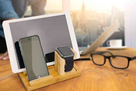 Ckent - Wooden docking station for an iPhone, iPad and Apple watch - Save 44%