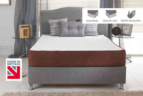 My Mattress Online - Single, small double or double or king size brown border memory foam mattress - Save 73%