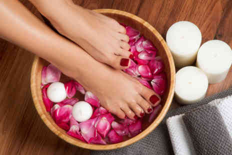 Avons Hair and beauty - Luxury shellac pedicure - Save 65%