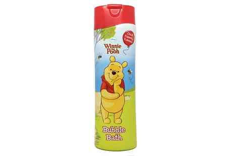 Groupon Goods Global GmbH - 3 or 6 Packs of Disney Winnie The Pooh 500ml Bubble Bath - Save 44%