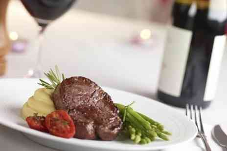 Minis Wine Bar and Eatery - Two Course Steak Dinner with Wine for Up to Four - Save 0%