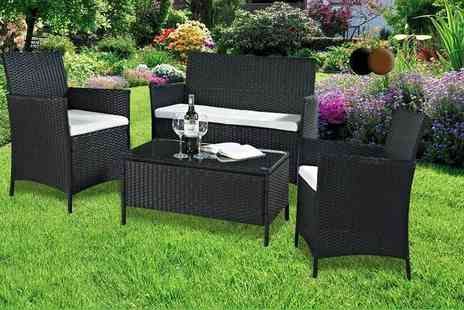 Evre - Four piece rattan garden or conservatory furniture set, with a limited number available - Save 86%