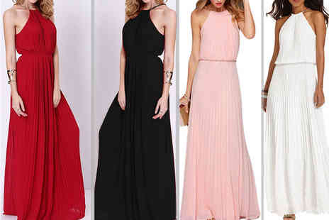 Bluebell Retail - Pleated summer maxi dress choose from four colours - Save 66%