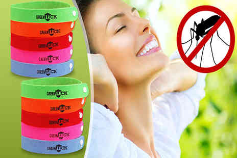 Ugoagogo - Set of 20 deet free mosquito repellent bands - Save 65%