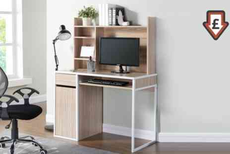 Groupon Goods Global GmbH - Taylor Computer Desk with Shelving Unit - Save 64%